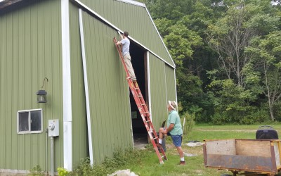 Fixing the shed door